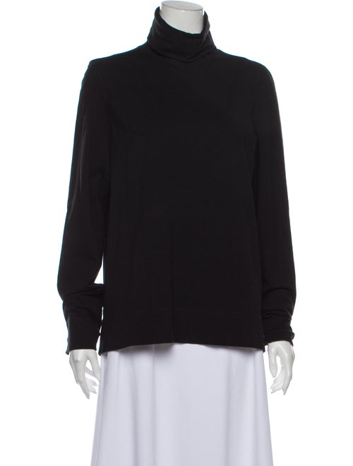 Fendi Turtleneck Long Sleeve Top Black