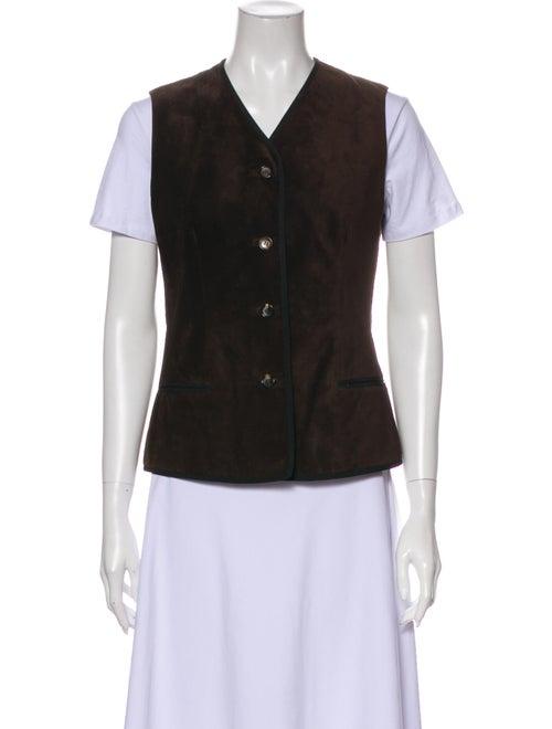 Fendi Leather Vest Green - image 1