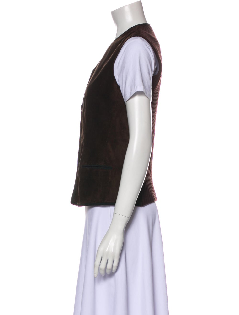 Fendi Leather Vest Green - image 2
