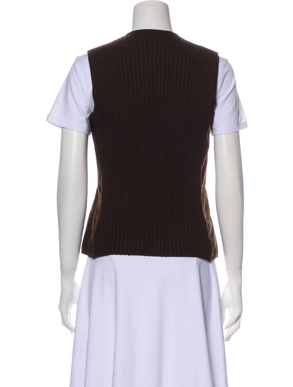 Fendi Leather Vest Green - image 3