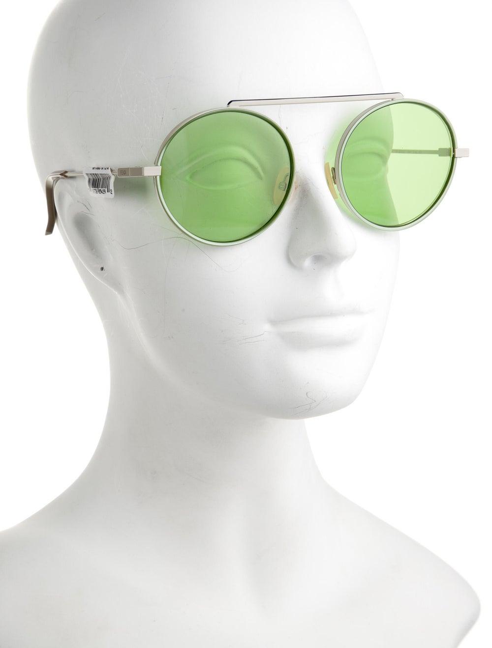 Fendi Round Tinted Sunglasses - image 4