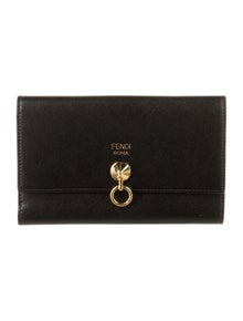 Fendi By The Way Compact Leather Bifold Wallet