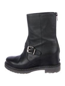 Fendi Leather Moto Boots