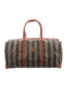 Fendi Vintage Pequin Duffle Bag