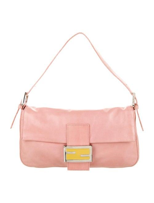 Fendi Leather Baguette Pink