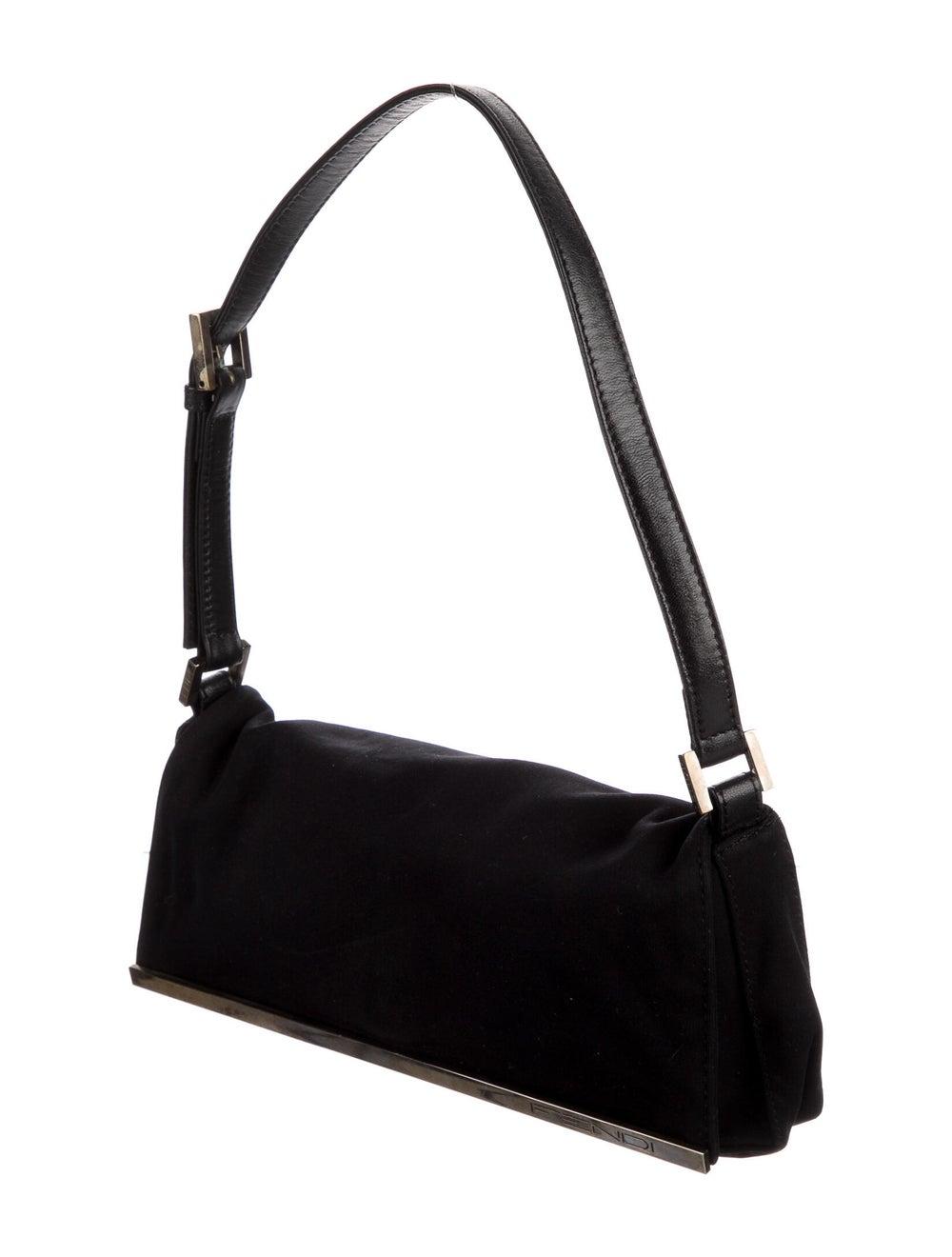 Fendi Leather-Trimmed Nylon Shoulder Bag Black - image 3