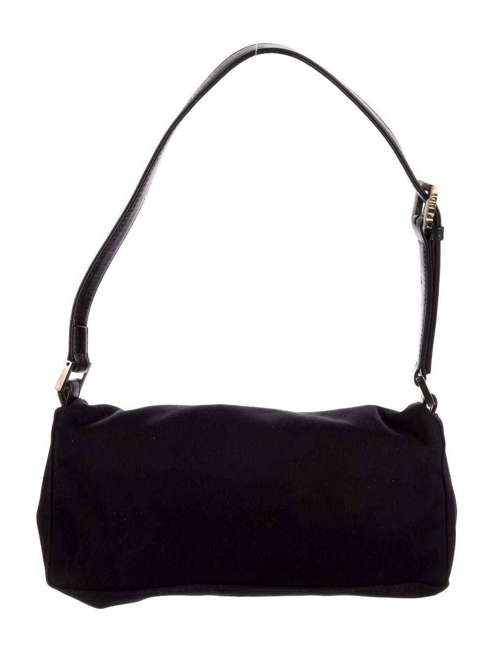 Fendi Leather-Trimmed Nylon Shoulder Bag Black - image 4