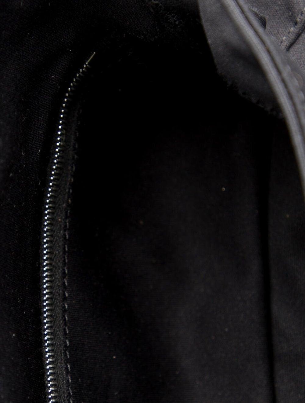 Fendi Leather-Trimmed Nylon Shoulder Bag Black - image 5