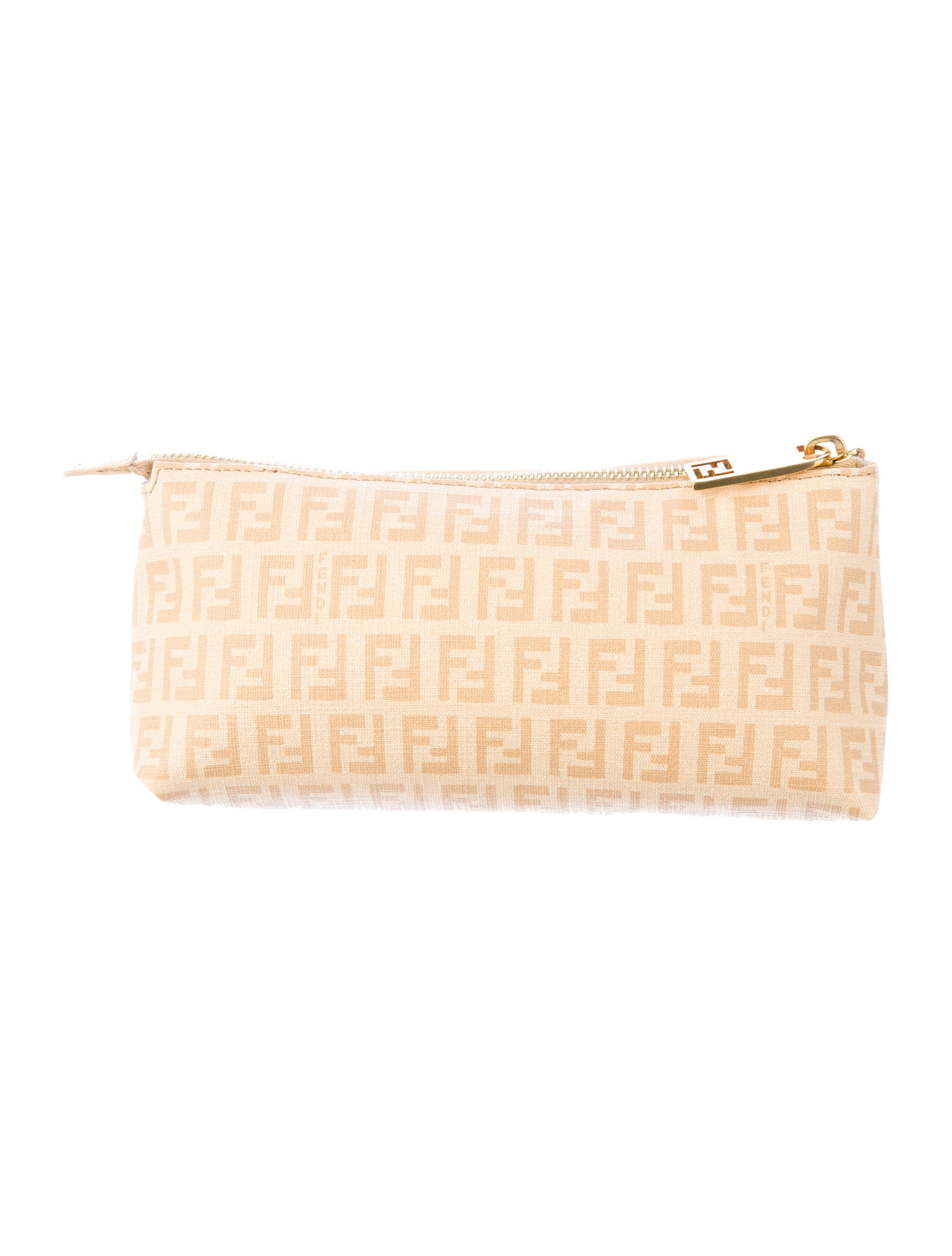 Fendi Zucchino Cosmetic Pouch - Accessories - FEN26166  9a276768b4d6a