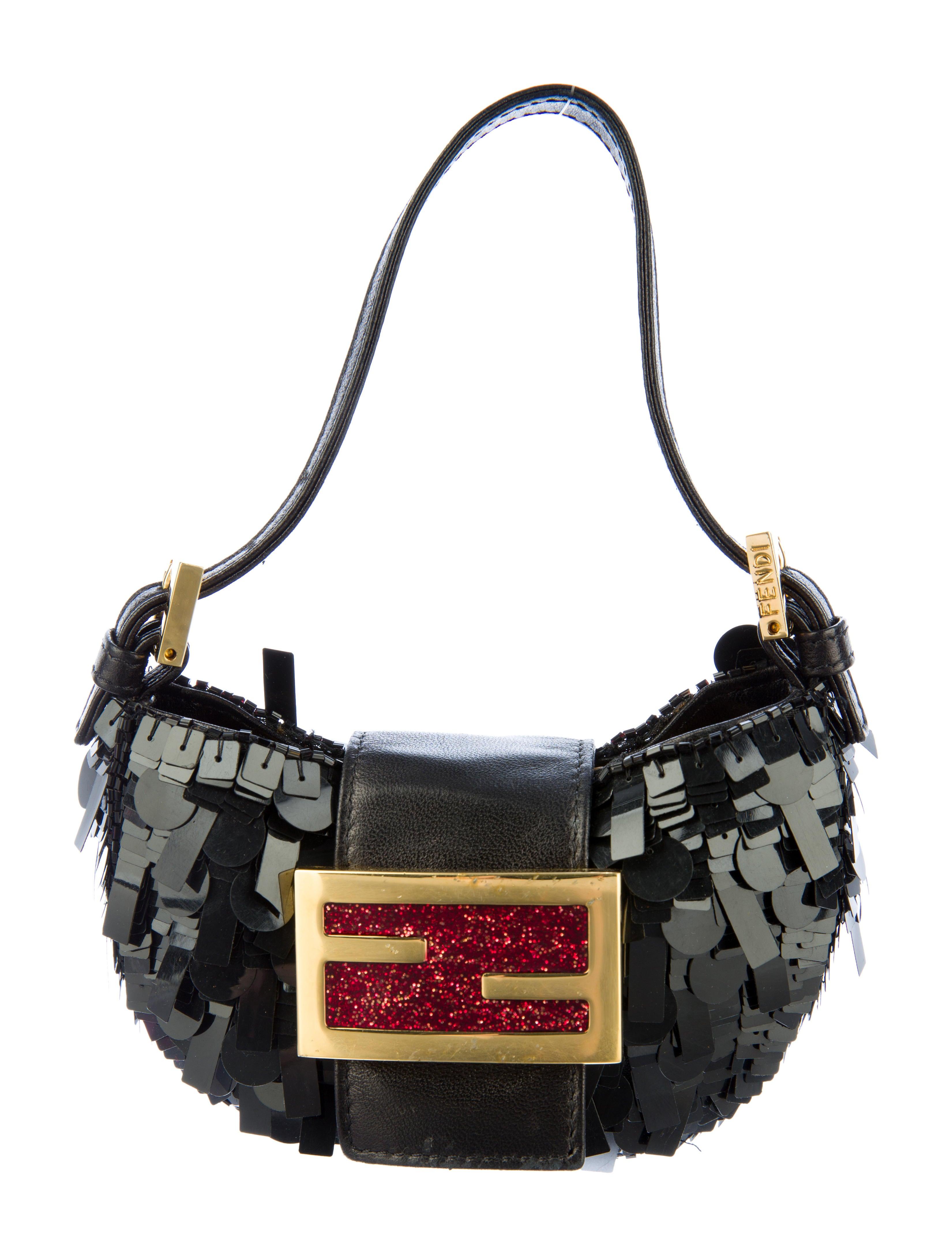 ce1617763ece Fendi Sequin Mini Croissant Bag - Handbags - FEN26263