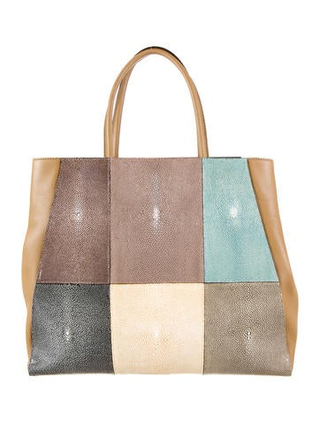 2Jours Patchwork Stingray Tote