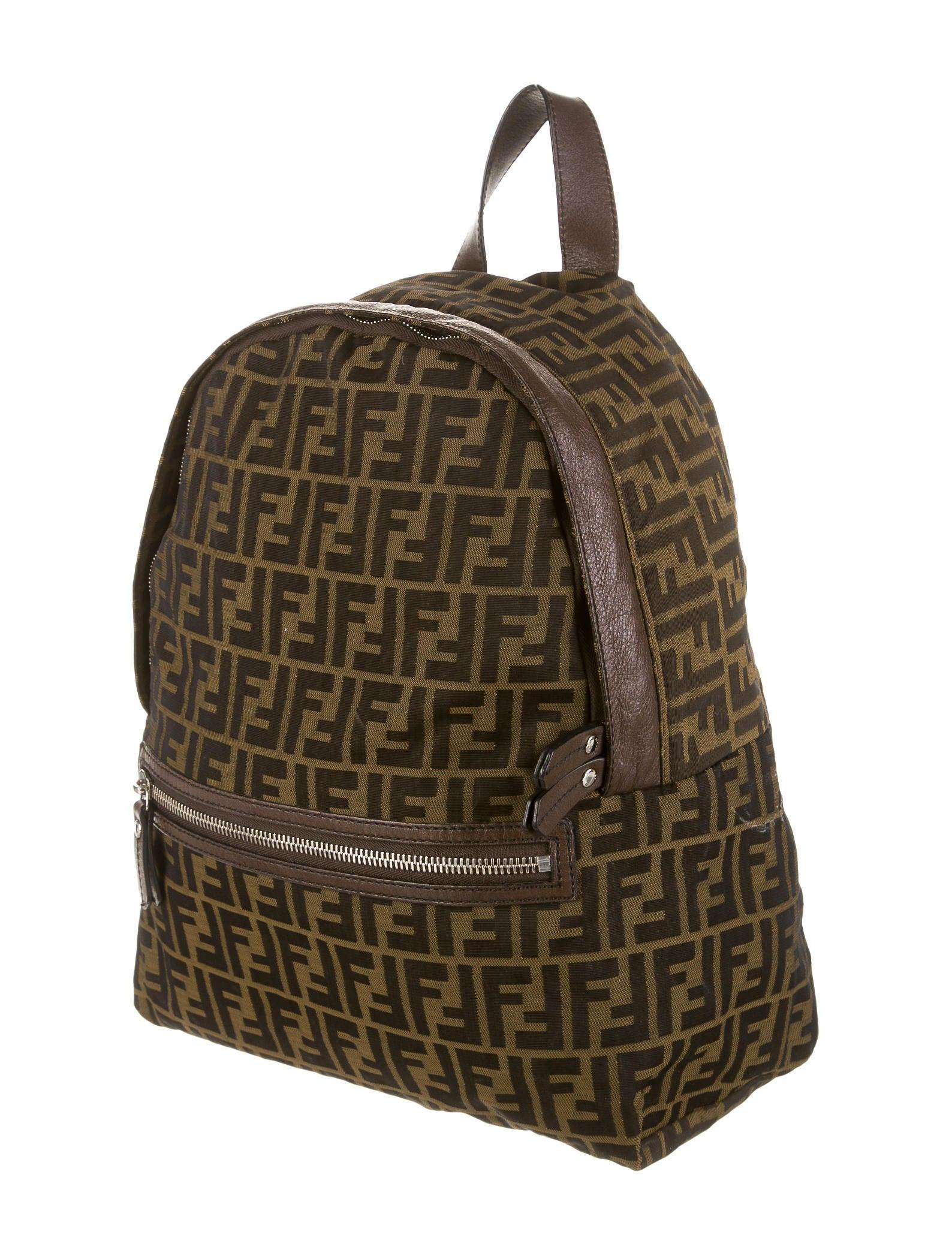Fendi Zucca Backpack Handbags Fen30757 The Realreal