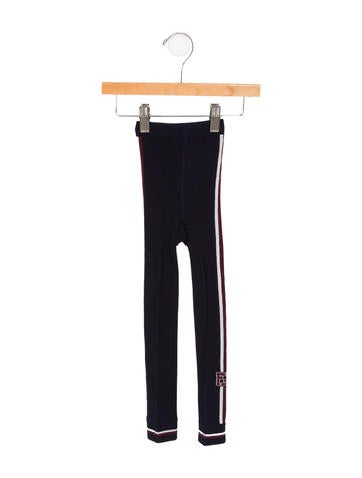 Fendi Girls' Logo Knit Leggings None