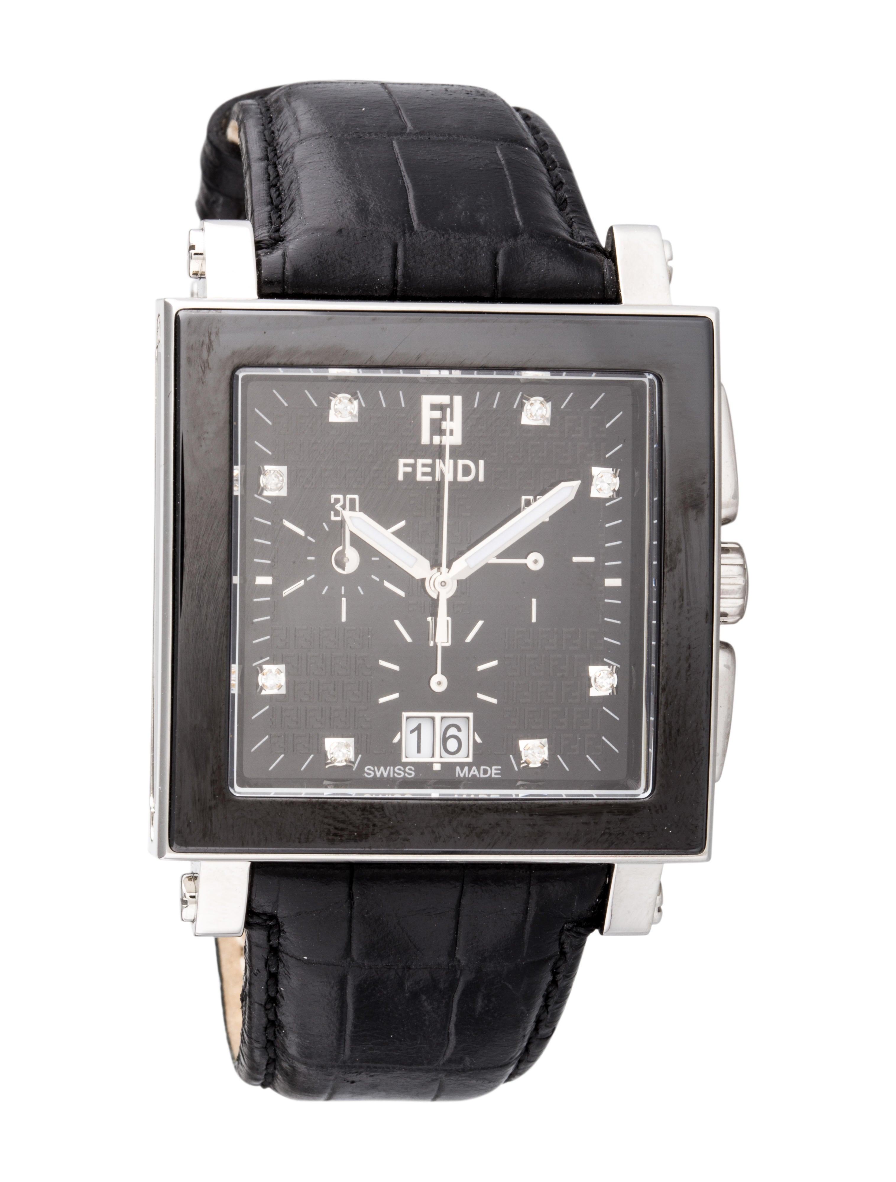 Fendi Ceramic Chronograph Watch Bracelet Fen38616