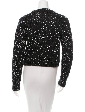Mohair & Silk-Blend Splatter Sweater