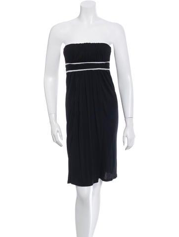 Fendi Strapless Mini A-Line Dress