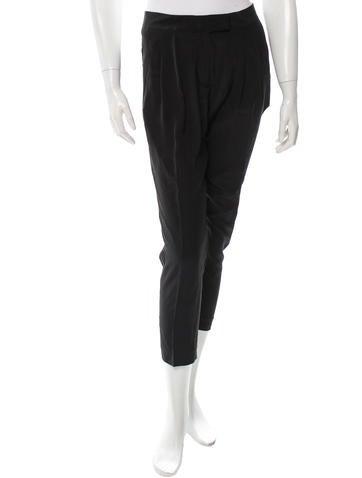 Fendi Cropped Silk Pants