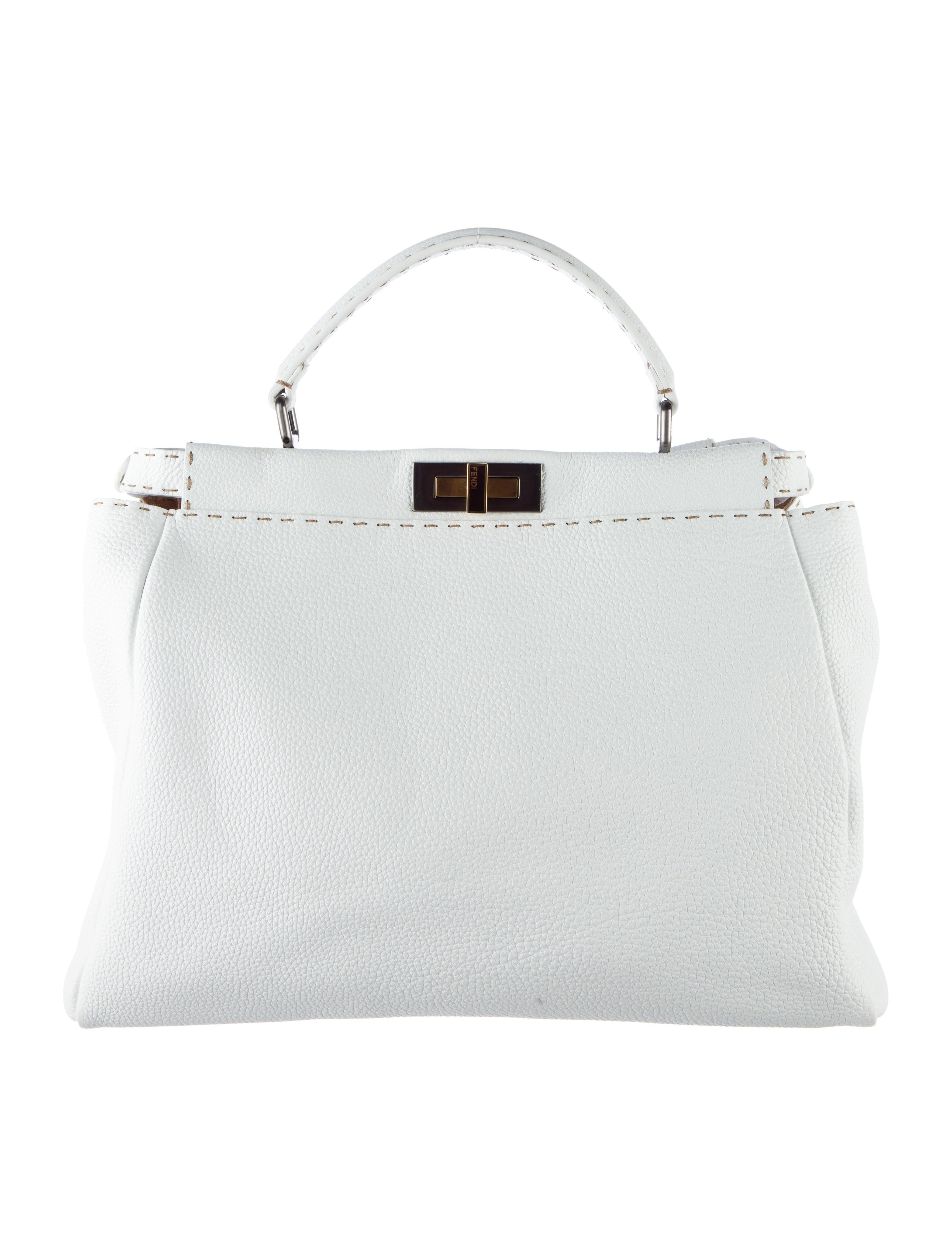7d58578323 Fendi Large Selleria Peekaboo Bag - Handbags - FEN41526