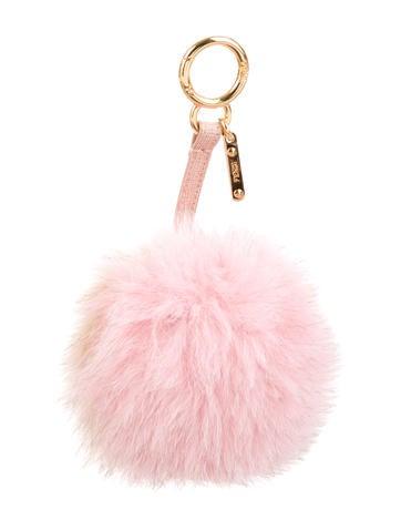 Fox Fur Pom-Pom Bag Charm