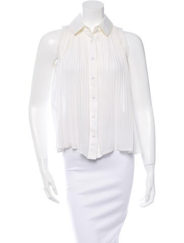Fendi Pleated Silk Top None