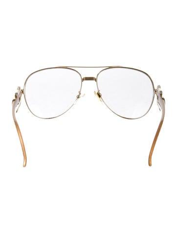 Buckle Embellished Aviator Sunglasses