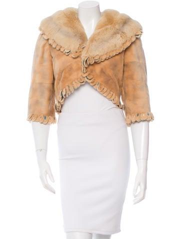 Fendi Sheared Mink Cropped Jacket None