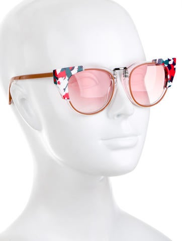 Printed Cat-Eye Sunglasses