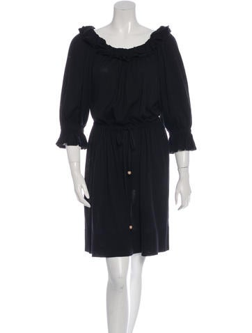 Fendi Ruffled Knee-Length Dress None