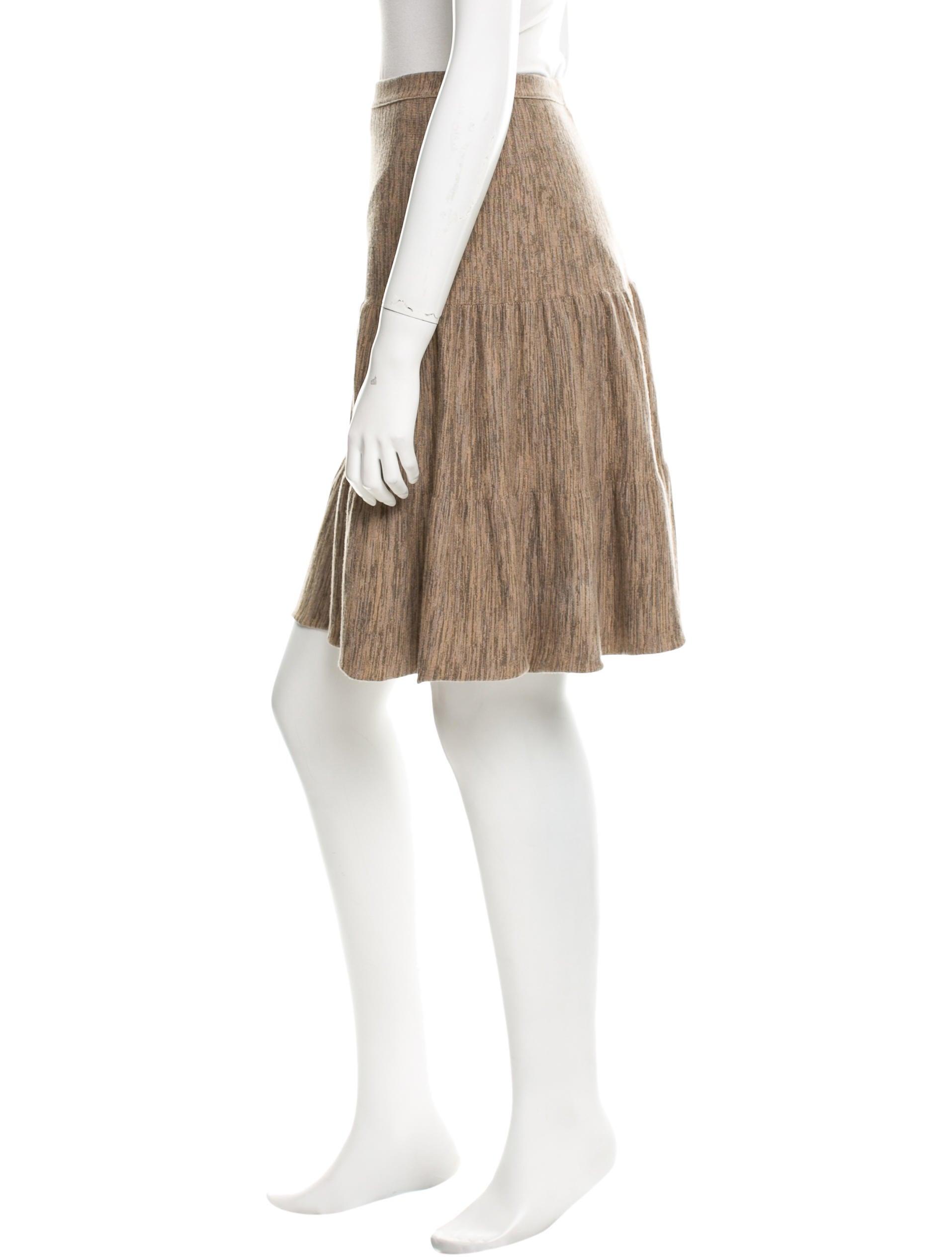 fendi knit knee length skirt clothing fen43664 the