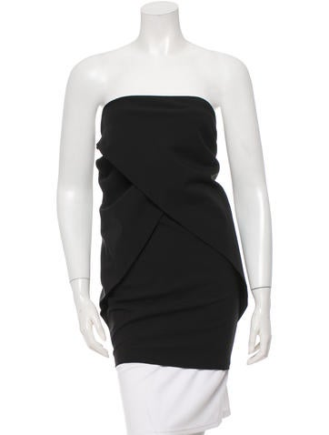 Fendi Wool Strapless Top None
