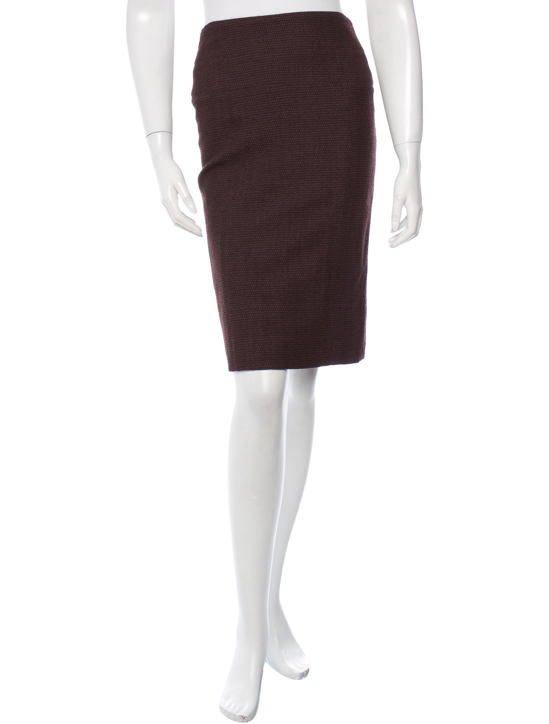 fendi wool knee length skirt clothing fen44050 the