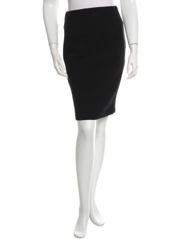 Fendi Wool Pencil Skirt None