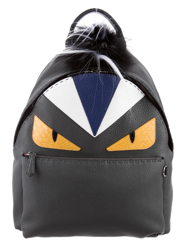 Selleria Monster Fur-Trimmed Leather Backpack