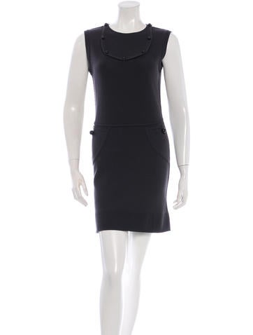 Fendi Sleeveless Wool Dress None