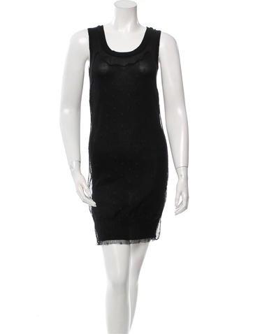 Fendi Metallic Open Knit-Accented Dress w/ Tags None
