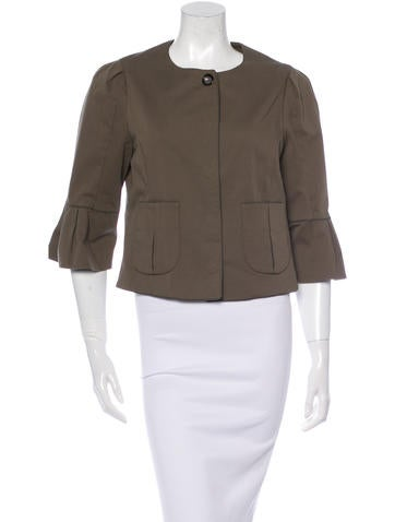 Fendi Twill Cropped Jacket None