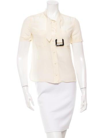 Fendi Silk Short Sleeve Top None