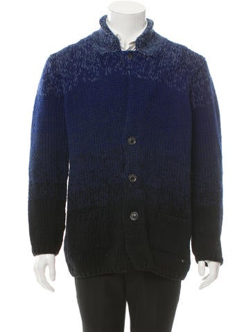 Fendi Wool Rib Knit Cardigan None