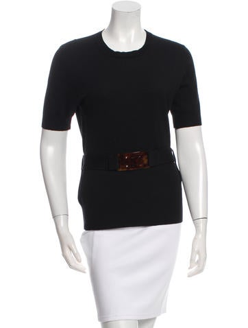 Fendi Belted Knit Top None