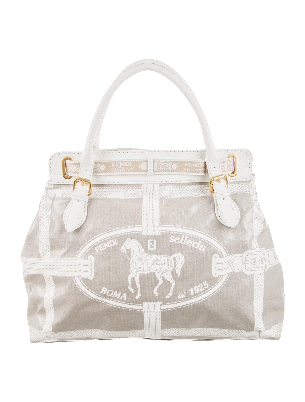 Fendi Selleria Vinyl Handle Bag Handbags Fen45814