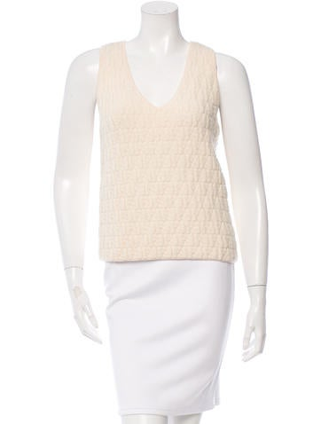 Fendi Textured Wool Top None