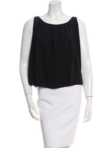 Fendi Silk Pleated Top None
