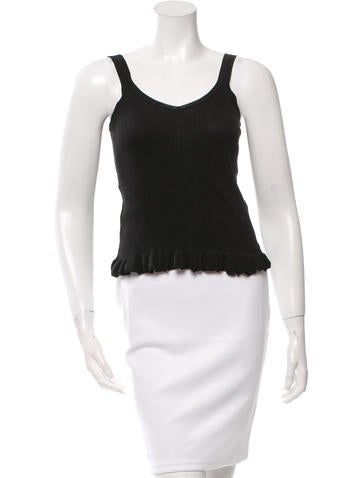 Fendi Sleeveless Knit Top None