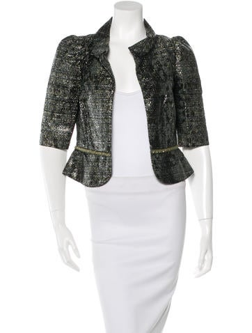 Fendi Silk-Blend Tweed Jacket w/ Tags None