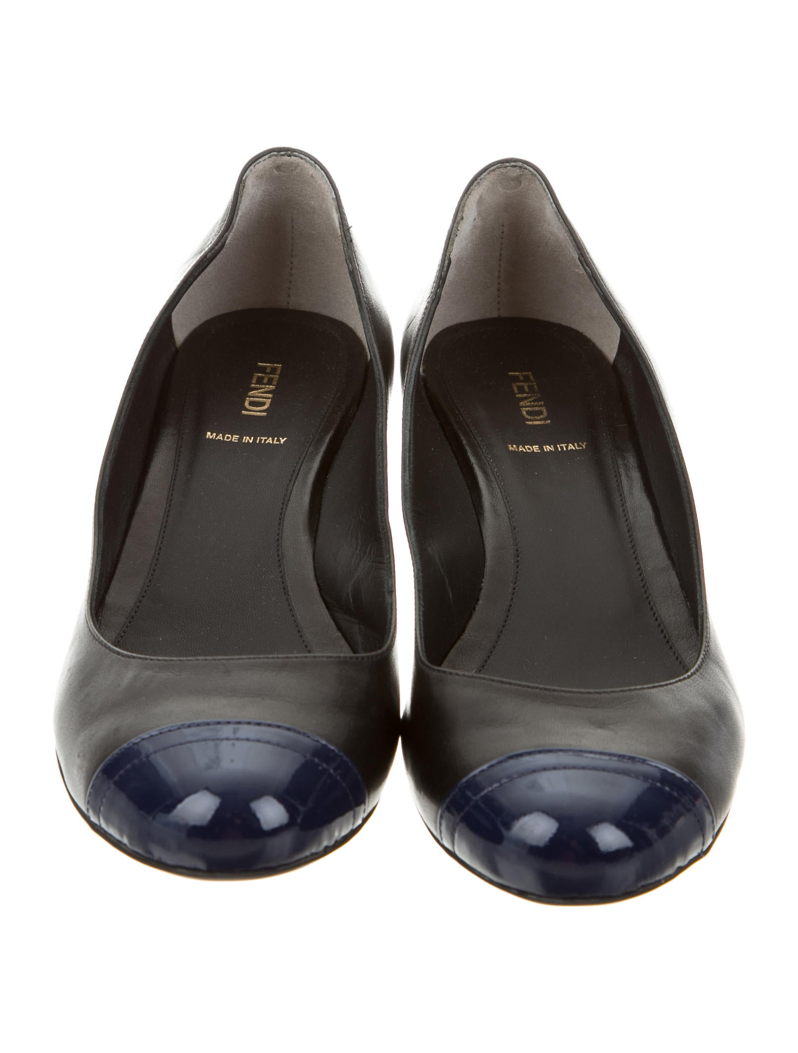 Fendi Leather Cap Toe Pumps Shoes FEN46214 The RealReal : FEN462143enlarged from www.therealreal.com size 1610 x 2124 jpeg 180kB