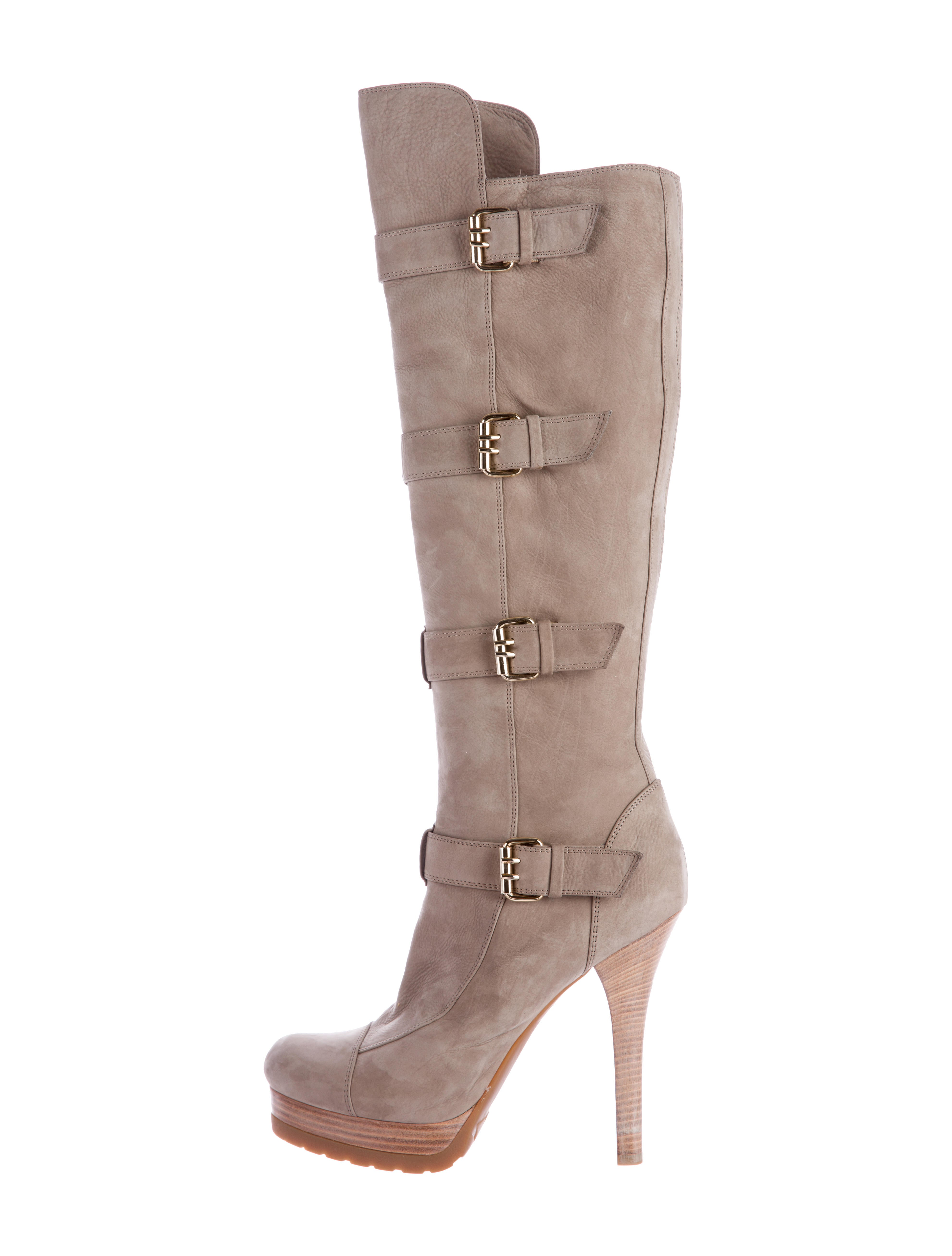 fendi buckle accented knee high boots shoes fen46493