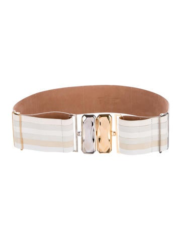 Fendi Multi-Leather Waist Belt