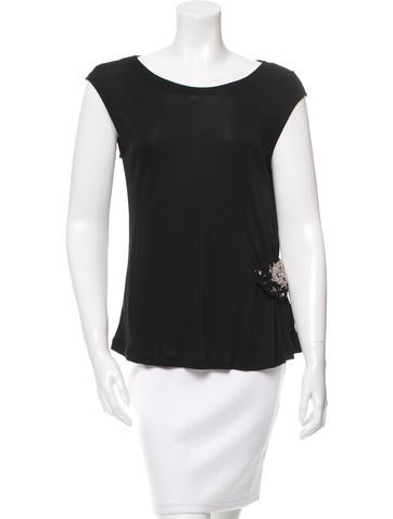 Fendi Embellished Sleeveless Top None