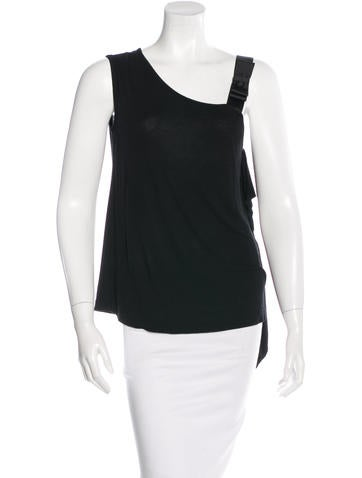Fendi Bow-Accented Sleeveless Top None