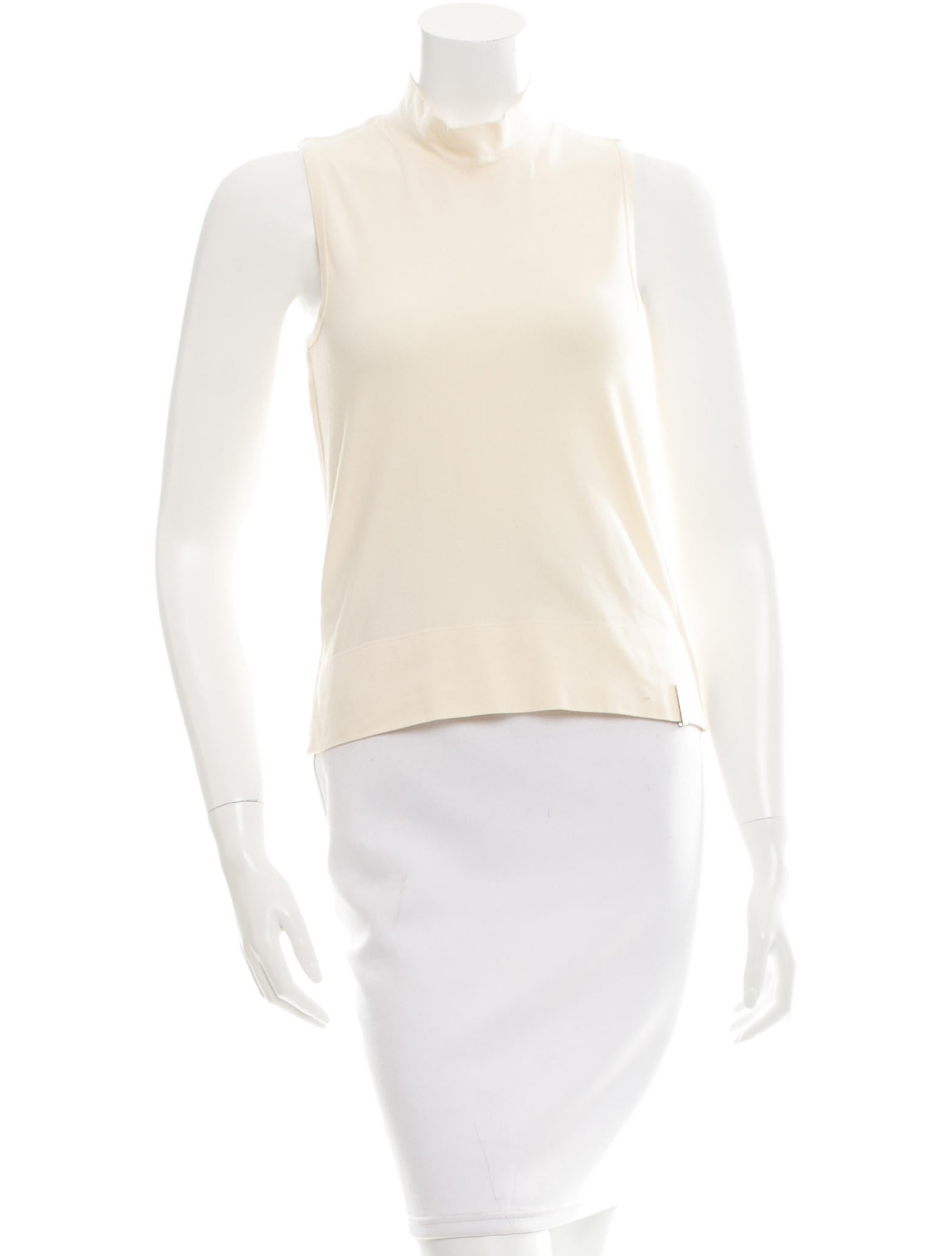 Fendi sleeveless mock neck top clothing fen47555 the for Sleeveless mock turtleneck shirts
